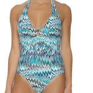 Helen Jon Kasbah geo print swimsuit
